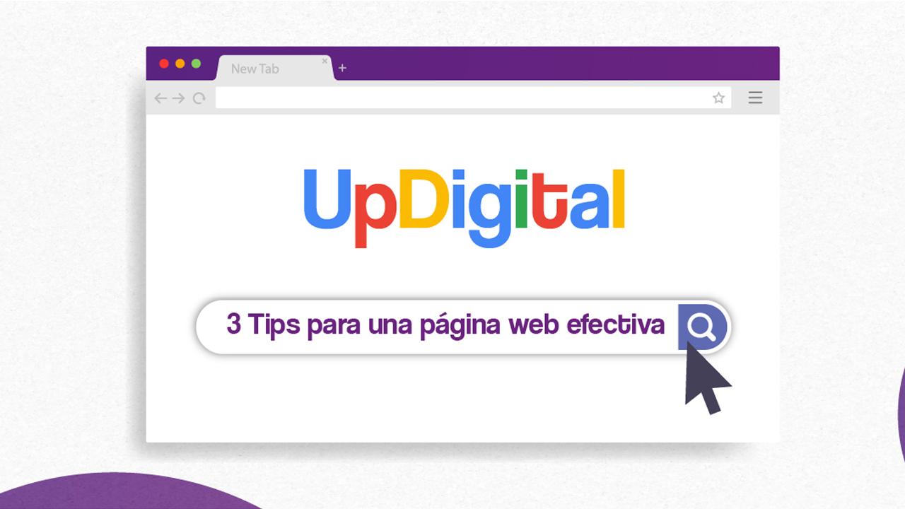 3 Tips para una página web efectiva